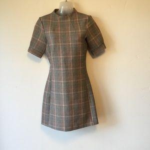 H&M Glen Check Plaid A - Line Dress